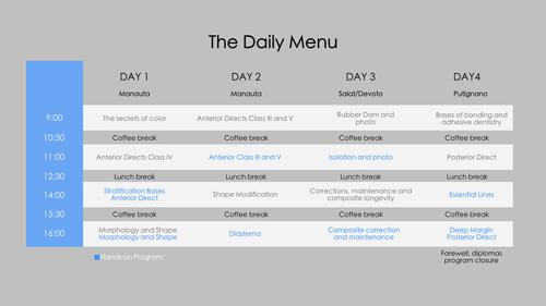 style italiano styleitaliano courses daily menu program
