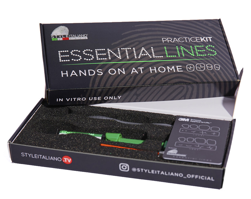style italiano styleitaliano essential lines course practice kit included hands-on at home